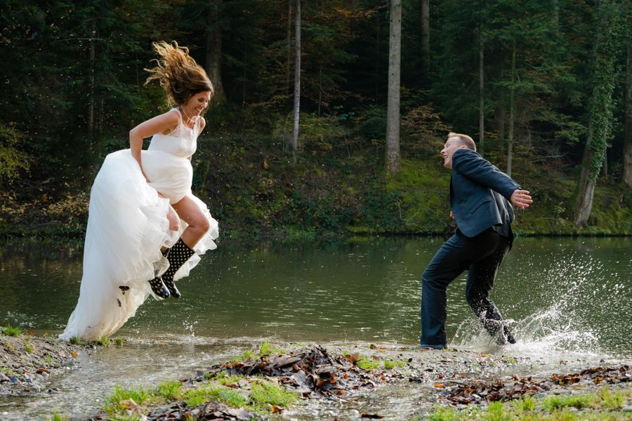 Trash the Dress Shooting am Ufer