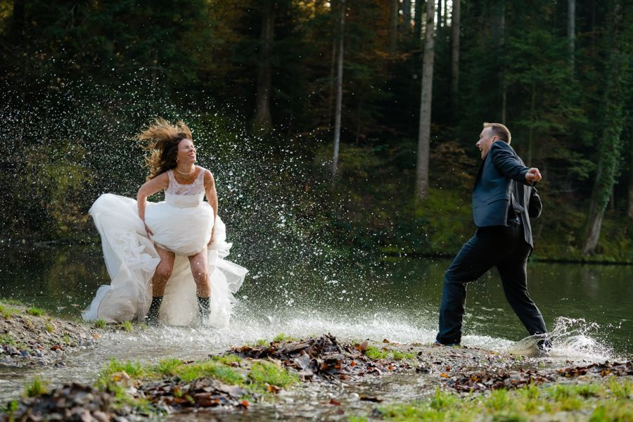 Trash the Dress Shooting Wasserschlacht